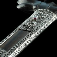Keris Bali Kayu Areng Suteja Silver Barang Antik Handmade