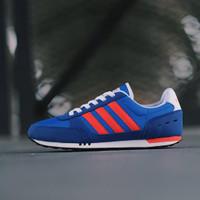 SEPATU ADIDAS NEO CITY RACER BLUE RED WHITE ORIGINAL