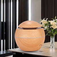 Aromatherapy Difuser Air Humidifier Desain Kayu - LED - Mini Diffuser