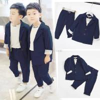 setelan baju anak laki laki go boy pakaian set jas anak 3 in 1 blazer
