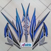 Striping Stiker Motor Honda Verza 150 2016 Full Hitam-Biru