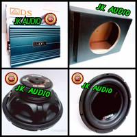 PAKET AUDIO MOBIL POWER AMPLIFIER ADS PLUS SUBWOOFER 12 INCHI DOUBLE
