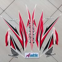 Striping Stiker Motor Honda Verza 150 2016 Full Putih-Merah