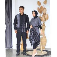 Baju Batik Couple Sarimbit Dress Kemeja Motif Songket Kombinasi