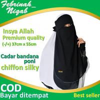 cadar niqab bandana poni lis siffon silky premium hijab jilbab syar'i