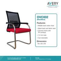 Avery Furniture - Kursi Kantor Hadap / Visitor Chair OVC002 - Merah