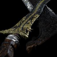 Keris Naga Tatahan Perak Suteja Silver Handmade