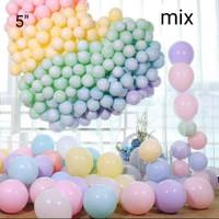 Balon Latex Macaron 5 inci isi 100 pcs