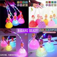 lampu lampion anak gadis princes pegang tangan mainan lantern led lent - princes kuning