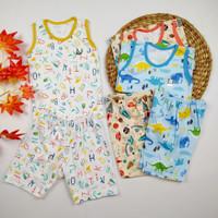 Baju Anak Bayi Setelan Singlet Little Q Kaos Kutung SNI Celana 3/4