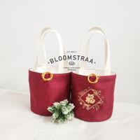 [ BURNET ] Hampers Bucket Bag CNY Edition Kanvas Tas Souvenir Imlek