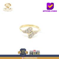 SBJ1 - cincin emas kuning asli wanita terbaru kadar 700 CMK179 R12