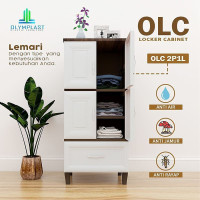 Lemari Pakaian Plastik OLYMPLAST OLC 2P1L