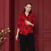 Marya Red Kimono Top Baju Wanita Imlek Chinese New Year Fashion SNG