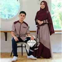 [COD] Samawa Couple Set   Dress   Gamis   Baju Pasangan Couple Muslim