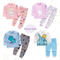 Setelan Baju Tidur / Piyama Anak Import Bahan Katun Organik Premium
