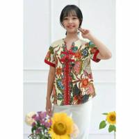 Helsinki Peacock Big Size Blouse Top Baju Wanita Imlek CNY Shirt 6209