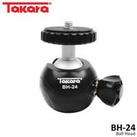 TAKARA BH-24 Ball Head Universal 1/4 Screw for Camera Tripod Monopod