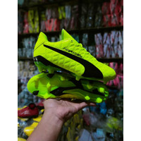 (REAL PICT) Sepatu sepak bola puma evospeed hijau grade ori import