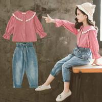Baju Setelan Casual Anak Perempuan 4 - 9 Tahun Import . PMI-2203