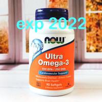 Now Foods Ultra Omega-3 500 EPA/250 DHA 90 Softgels Now Food Omega