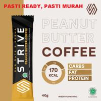 STRIVE PEANUT BUTTER COFFEE 40g ENERGY BAR 1 Box isi 6pcs