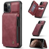 case original iPhone 11 pro case kulit PU dompet back cover caseme - coklat tua