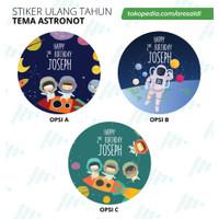 label stiker ASTRONAUT Ulang Tahun Anak - sticker bisa custom ASTRONOT