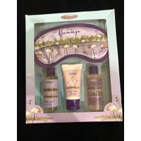 Flamingo Gift set of 4 Body wash, Body Scrub, body Lotion and Eye mask