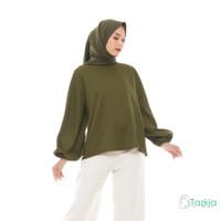Atasan Muslim Wanita   Lune Blouse Hijau   S M L XL   Tazkia Hijab
