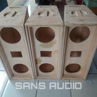Box speaker line array 6 inch doble plus twiter
