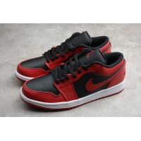 Sepatu Nike Air Jordan 1 Low Bred Red Black High Quality Sneakers