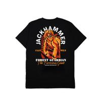 Jackhammer Forest Giants Tee Kaos Pria Black