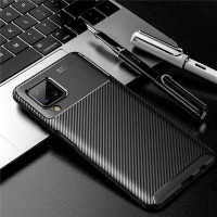 READY!!! Case Samsung Galaxy A12 Softcase Shockproof Carbon
