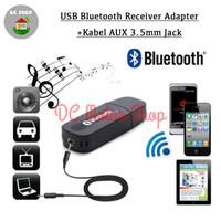 USB Bluetooth Receiver Adapter + Kabel AUX 3.5mm jack Audio Wireless