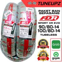PAKET 100/80 & 90/80 RING 14 SEPASANG BAN TUBELESS FDR SPORT XR EVO DE