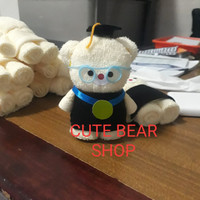 Souvenir Wisuda Handuk 30x30 Boneka/Wisuda Beruang/Graduation Bear