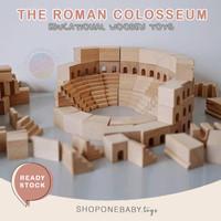 Roman Colosseum Wooden Building Block Toys Mainan Edukasi Balok Kayu