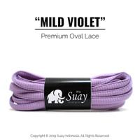 Tali Sepatu Bulat (OVAL) PREMIUM Warna Warni Ungu Muda Mild Violet
