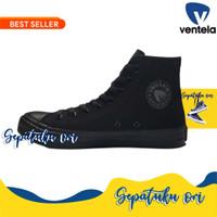 Ventela Ethnic High All Black Full Black Original | Sepatu Sekolah