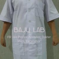 baju laboratorium lengan pendek - S