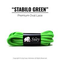 Tali Sepatu Bulat (OVAL) PREMIUM Warna Warni Stabilo Green Hijau