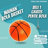 Bola Basket Mainan Anak Balon Dengan Bahan Karet Diameter 18cm
