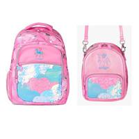 Smiggle Bag Backpack Shoulder Bag Lunar Pink Unicorn Original