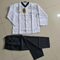 Baju muslim Anak Koko Setelan putih hitam setelan anak tanggung Sd/smp