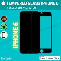 Tempered Glass iPhone Anti Gores Screen Guard iPhone 6 6P 6S 7 8 PLUS - iPhone 6, Hitam