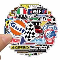 50pcs Stiker Racing car balap mobil motor logo otomotif sticker