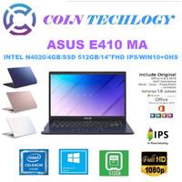 LAPTOP ASUS E410MA - INTEL N4020 DDR4 4GB 512GB SSD 14 W10 OHS - BV451TS BLUE