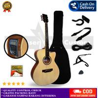 Lakewood Sungha Jung ( Gitar Lakewood Akustik) - Coklat EQ LCD, Full Aksesoris