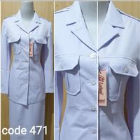atasan putih saku dada seragam dinas ASN baju PNS seragam Pemda
